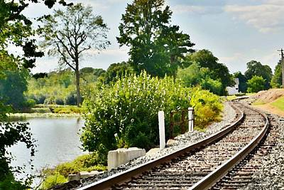 Photograph - Old Railroad Line - Milton Delaware by Kim Bemis