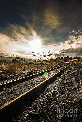 Avoca Photograph - Old Railroad Track by Jorgo Photography - Wall Art Gallery