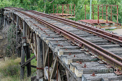 Photograph - Old Railway Bridge by Werner Padarin