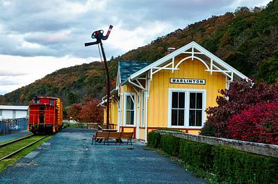 Caboose Photograph - Old Railway Depot by Mountain Dreams