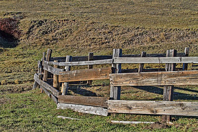 Photograph - Old Ranch Corral by Alana Thrower