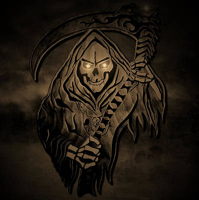 Old Reaper Art Print by Michael Bergman