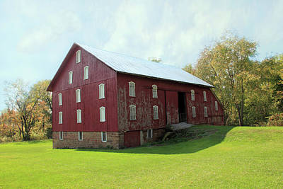 Photograph - Old Red Barn by Angela Murdock