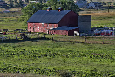 Photograph - Old Red Barn In The Spring by Alana Thrower
