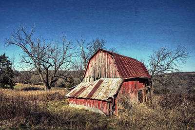 Photograph - Old Red Barn by Joe Sparks