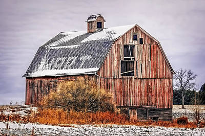 Photograph - Old Red Barn  by LeeAnn McLaneGoetz McLaneGoetzStudioLLCcom