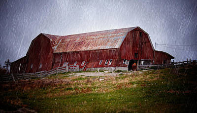 Dilapidated Photograph - Old Red Barn by Maggie Terlecki