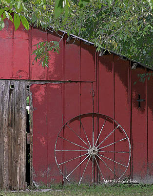 Photograph - Old Red Barn by Matalyn Gardner