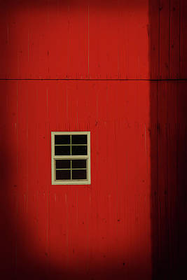 Digital Art - Old Red Barn Minimalism by Dan Sproul