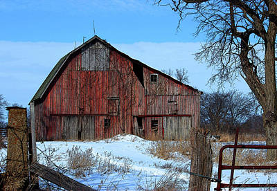 Photograph - Old Red Barn by Rowana Ray