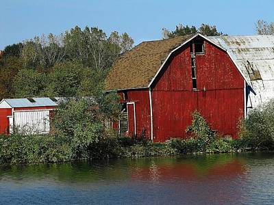 Photograph - Old Red Barn by Scott Hovind