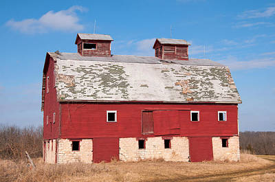 Photograph - Old Red Barn by Steve Stuller