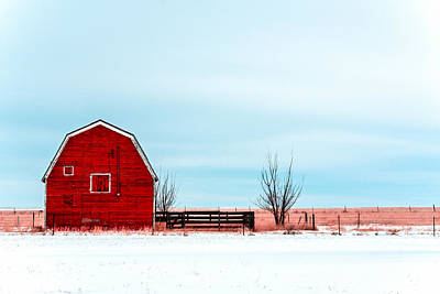 Abandoned Structures Photograph - Old Red Barn by Todd Klassy