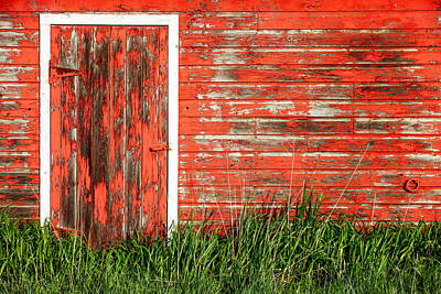 Photograph - Old Red Barn Wall by Todd Klassy
