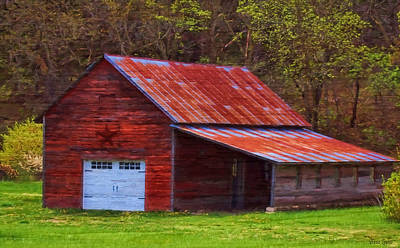 Photograph - Old Red Barn With Star by Anna Louise