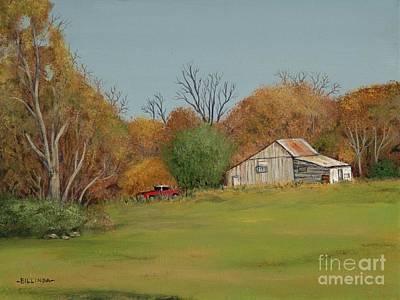 Painting - Old Red by Billinda Brandli DeVillez