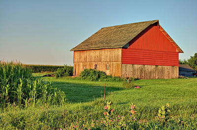 Photograph - Old Red by Bonfire Photography