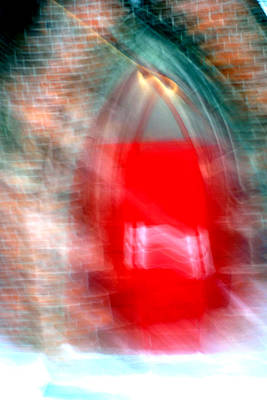 Photograph - Old Red Door Abstract by Anthony Jones