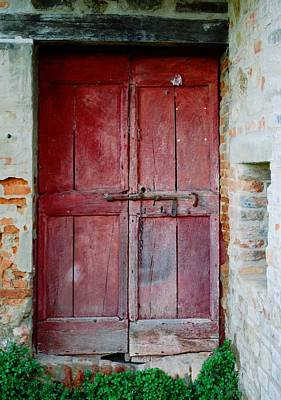Photograph - Old Red Door by Dorothy Berry-Lound