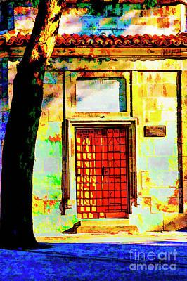 Photograph - Old Red Door by Rick Bragan