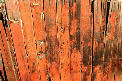 Photograph - Old Red Fence by Richard Omura