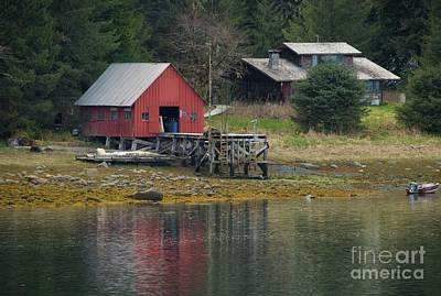 Photograph - Old Red House Alaska by Loriannah Hespe
