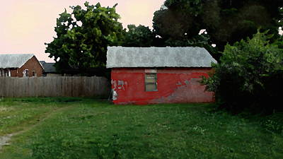 Digital Art - Old Red House In Shantytown by Shelli Fitzpatrick