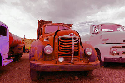 Old Trucks Photograph - Old Red by Jeff Swan