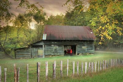 Rural Scenes Digital Art - Old Red by Lori Deiter