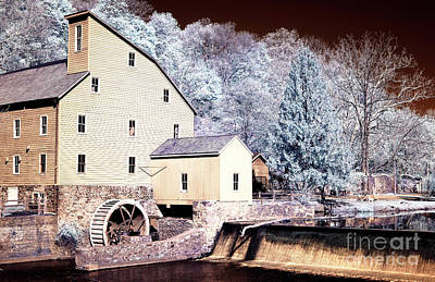 Photograph - Old Red Mill Infrared by John Rizzuto