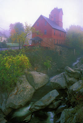 Old Red Mill Jericho Vermont Art Print by John Burk