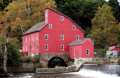 Photograph - Old Red Mill by John Rizzuto