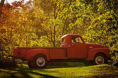 Photograph - Old Red Pick-up by Susan McMenamin