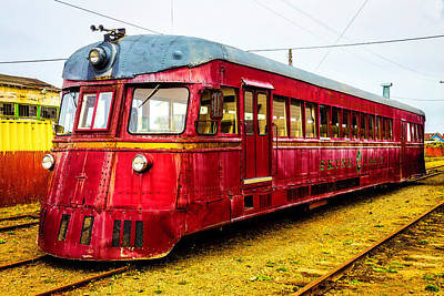 Photograph - Old Red Skunk Train by Garry Gay