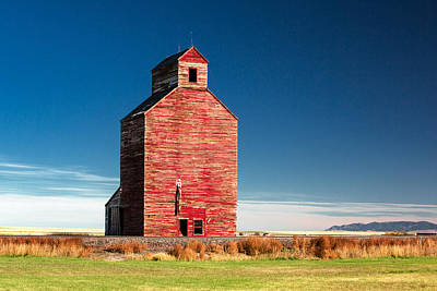Grain Elevator Wall Art - Photograph - Old Red by Todd Klassy