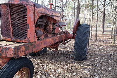 Photograph - Old Red Tractor by Doug Camara
