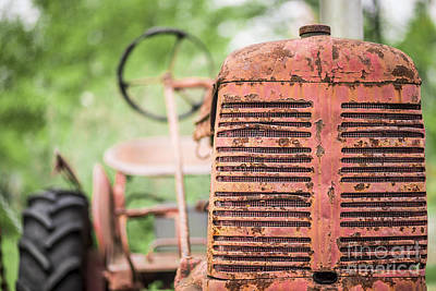 Photograph - Old Red Tractor by Edward Fielding