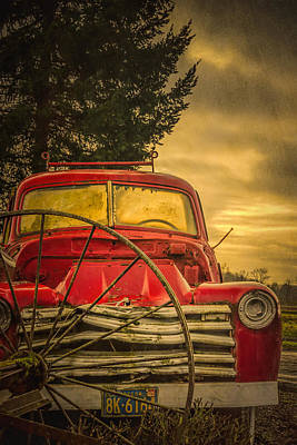 Photograph - Old Red Truck by Don Schwartz