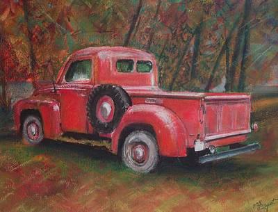 Old Red Art Print by Victoria Heryet