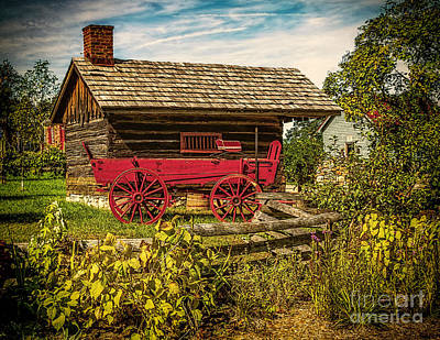 Photograph - Old Red Wagon by Nick Zelinsky