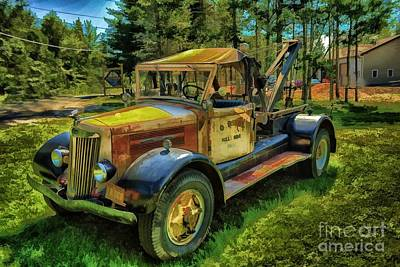 Antique Tow-truck Photograph - Old Relic by Arnie Goldstein