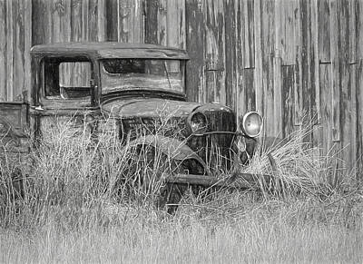 Photograph - Old Retired Farm Truck by Wes and Dotty Weber