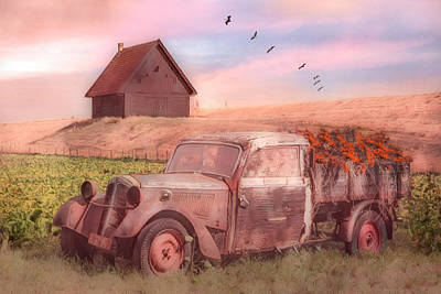 Photograph - Old Retired Rusty In Soft Watercolors by Debra and Dave Vanderlaan