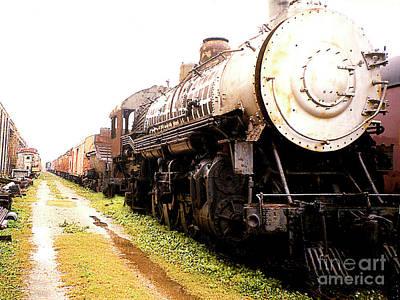Photograph - Old Retired Steam Train - New Orleans La by Merton Allen