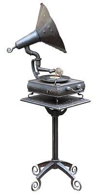 Old  Retro No Name  Vinil Record Player Art Print by Aleksandr Volkov