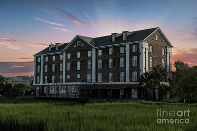 Photograph - Old Rice Mill Sunset In Charleston South Carolina by Dale Powell
