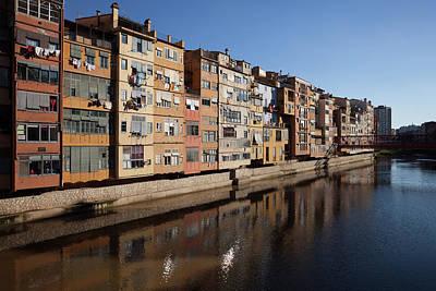 Girona Photograph - Old River Houses In City Of Girona by Artur Bogacki