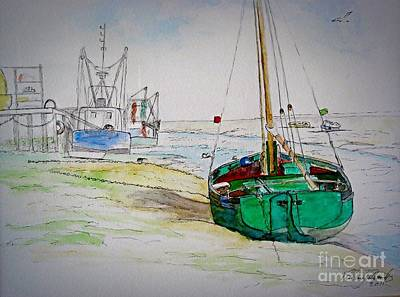 Old River Thames Fishing Boat Art Print