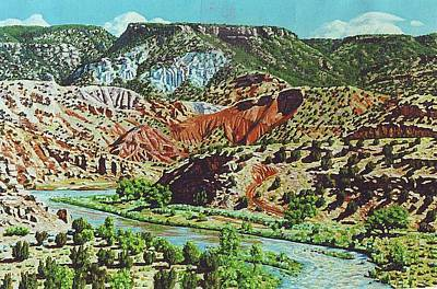 Chama River Painting - Old Roads To Chama by Allen Kerns