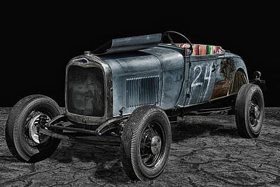 Old Hotrod Photograph - Old Roadster by Joachim G Pinkawa